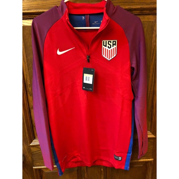 aa931931b3 Nike US Soccer Men S Jacket 3 4 Zip 819756-657